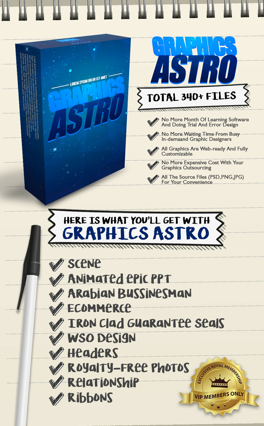 Exclusive Bonus Graphics Astro