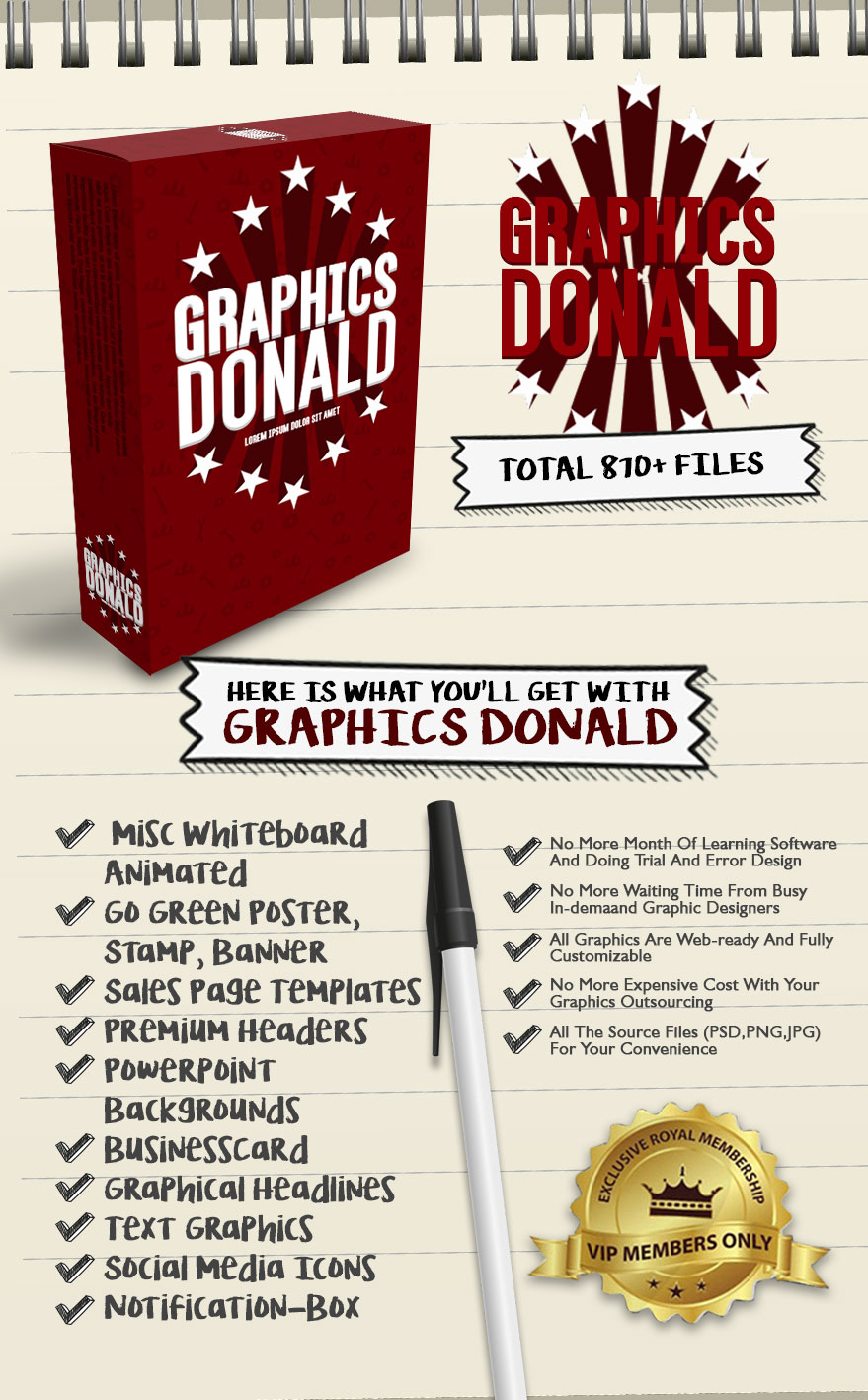 Exclusive Bonus Graphics Donald