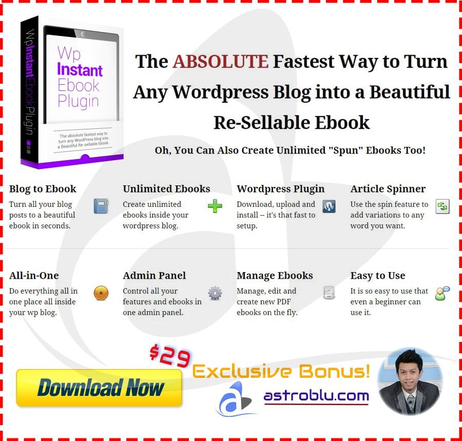 Exclusive Bonus WP Instant eBook