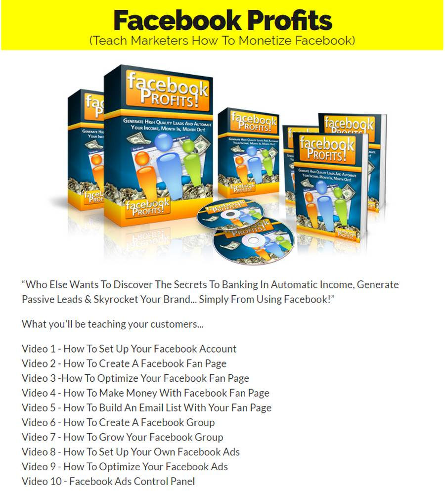 Exclusive Bonus Facebook Profits [Course]