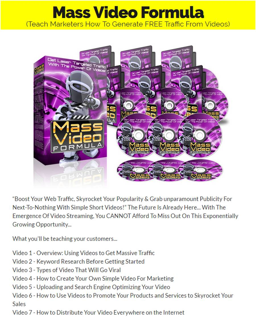 Exclusive Bonus Mass Video Formula [Course]