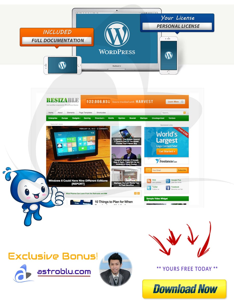 Exclusive Bonus Videoplus WordPress Theme