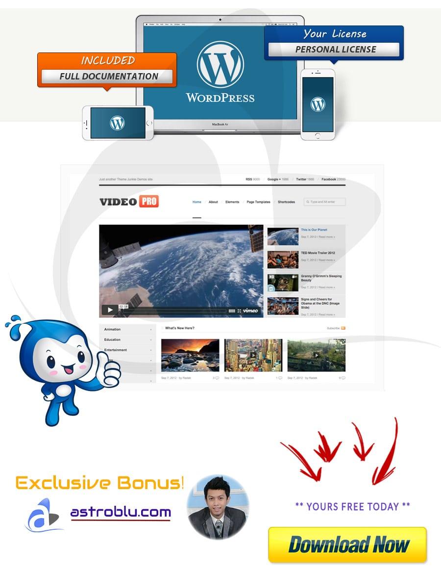 Exclusive Bonus Video Pro WP Theme