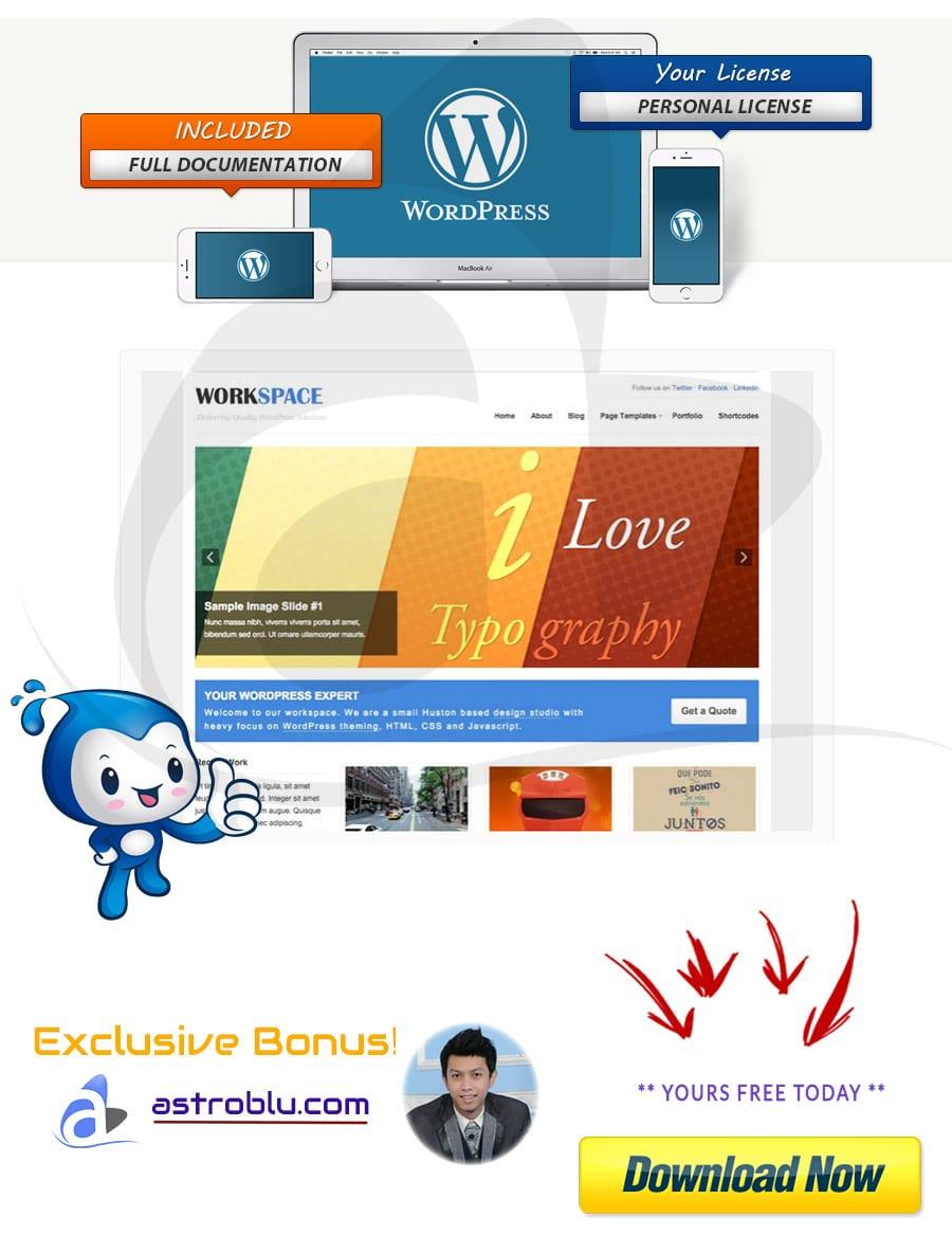 Exclusive Bonus Workspace WordPress Theme