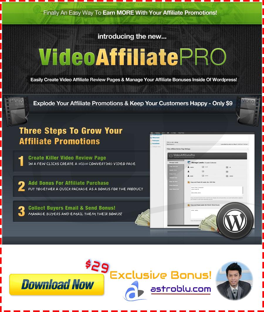 Exclusive Bonus WP Video Affiliate PRO